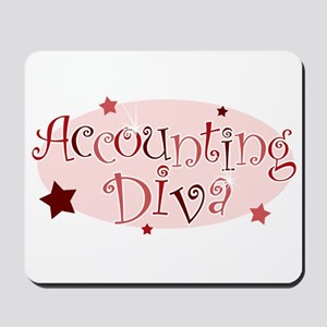 """Accounting Diva"" [red] Mousepad"